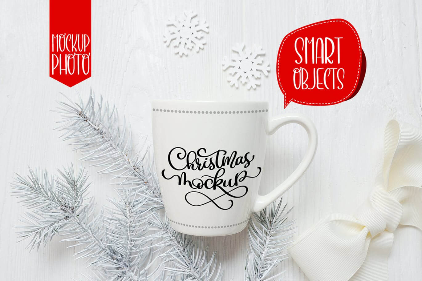 Christmas mug and letter mock ups