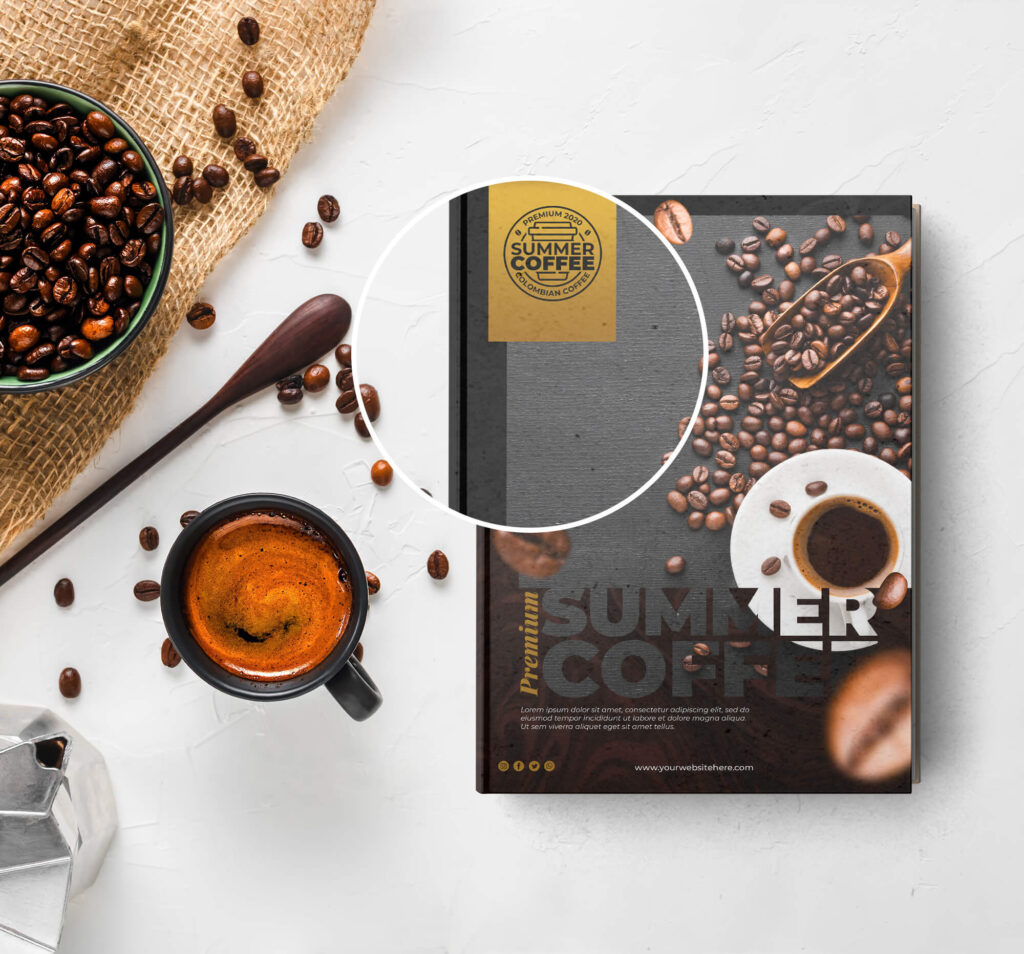 Close Up Of a Free Coffee Table Book Mockup PSD Template