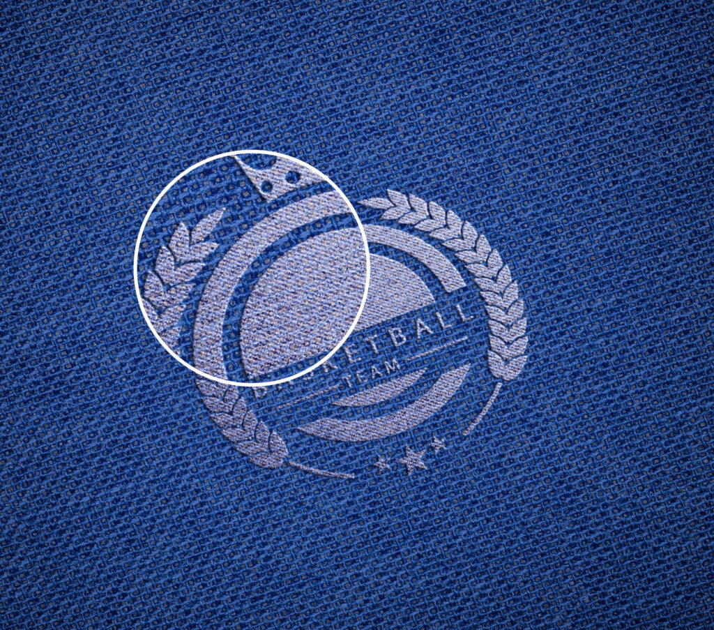 Close Up Of a Free Embroidered Logo Mockup PSD Template