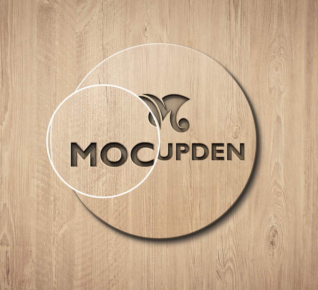 Close Up Of a Free Logo Mockup Template PSD