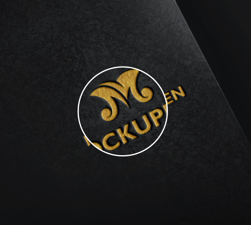Close Up Of a Free Mockup Para Logo PSD Template