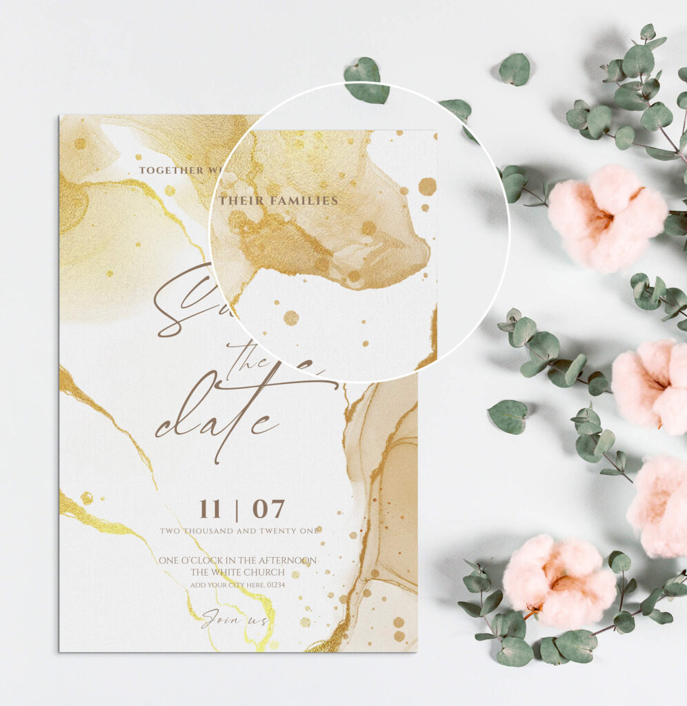 Close Up Of a Free Wish Card Mockup PSD Template