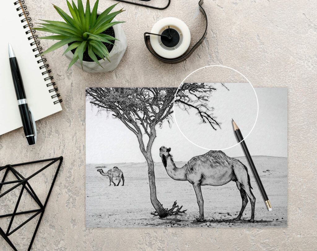 Close Up of a Free Drawing Book Mockup PSD Template