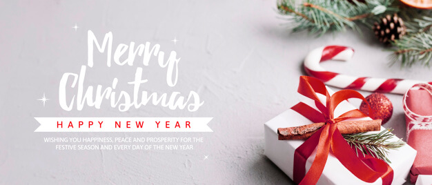 Creative christmas party banner template Free Psd (1)