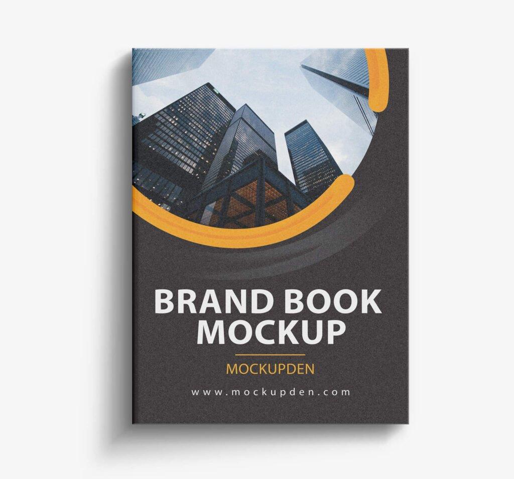 Design Free Brand Book Mockup PSD Template