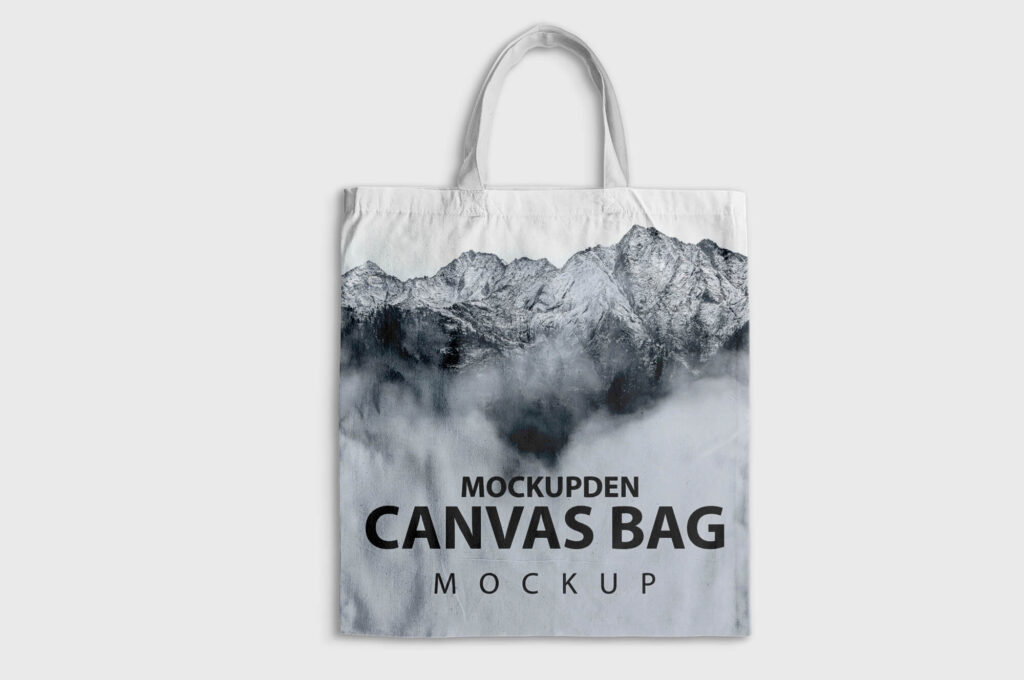 Desgin Free Canvas Bag Mockup PSD Template