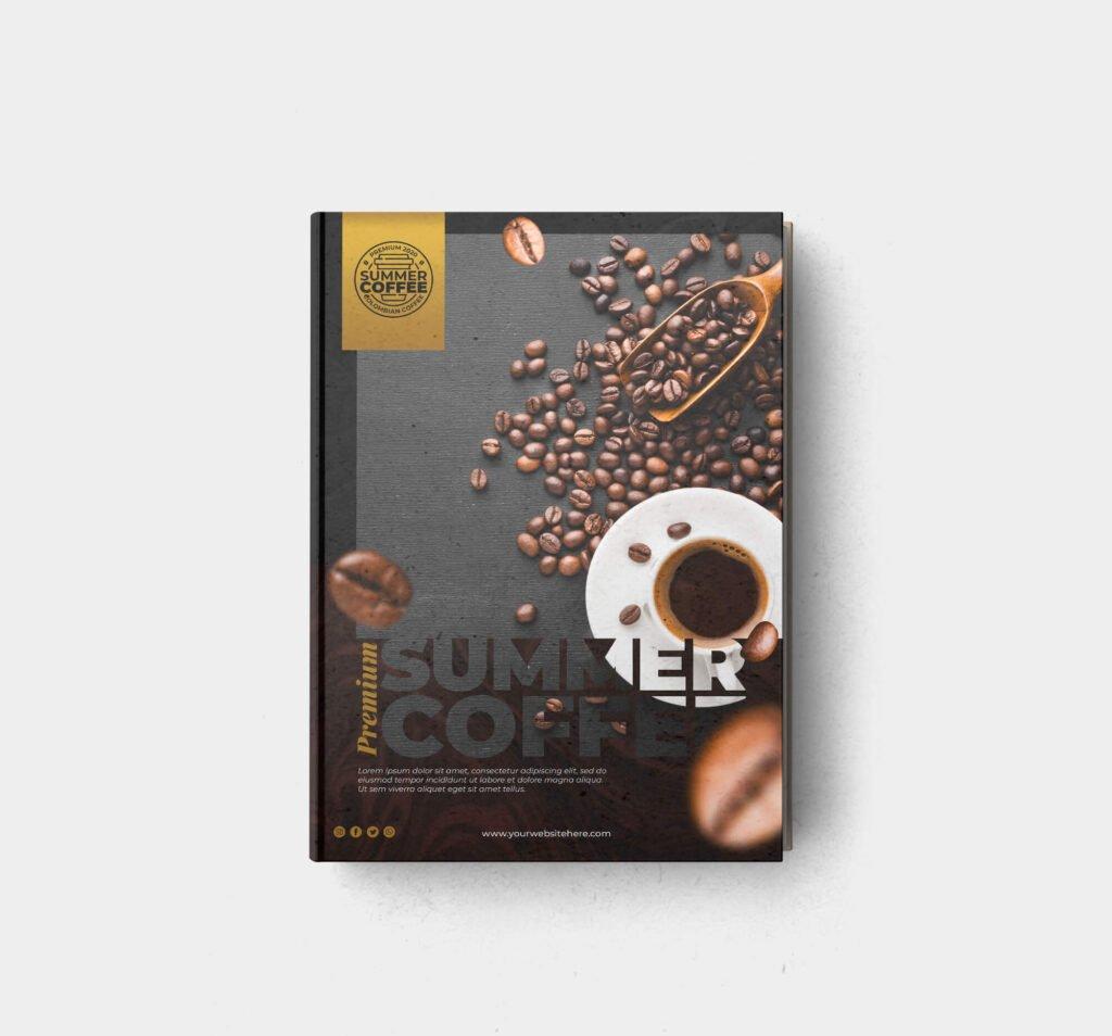 Design Free Coffee Table Book Mockup PSD Template