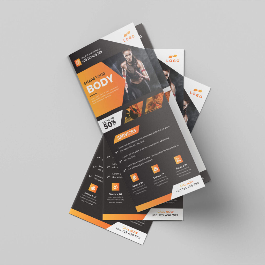 Design Free Dl Flyer Mockup PSD Template