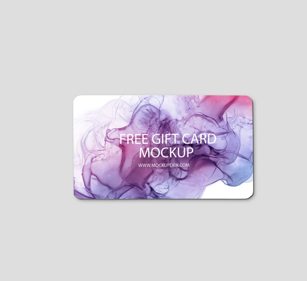 Design Free Gift Card Mockup PSD Template
