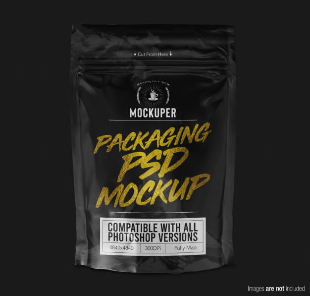 Doypack product packaging mockup front view Premium Psd (1)