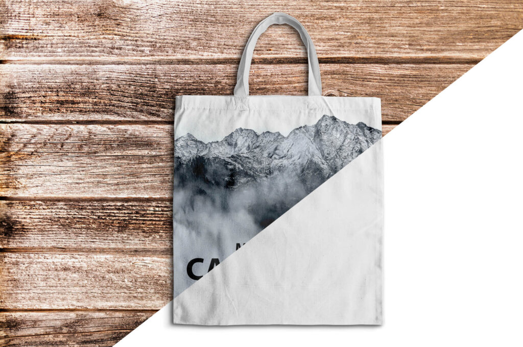 Editable Free Canvas Bag Mockup PSD Template
