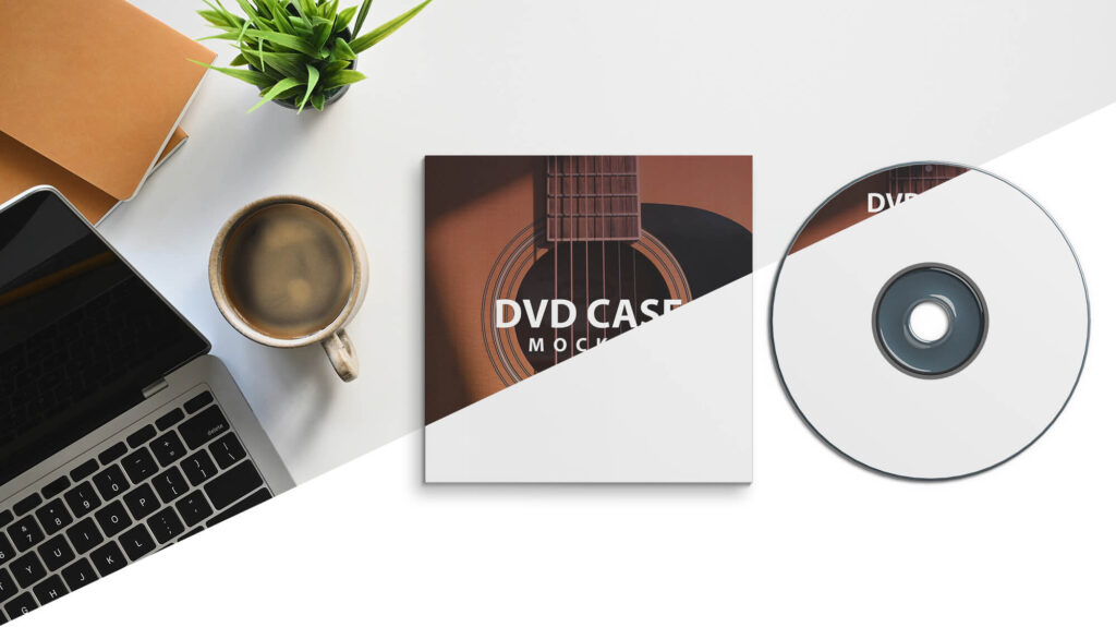 Editable Free DVD Case Mockup PSD Template