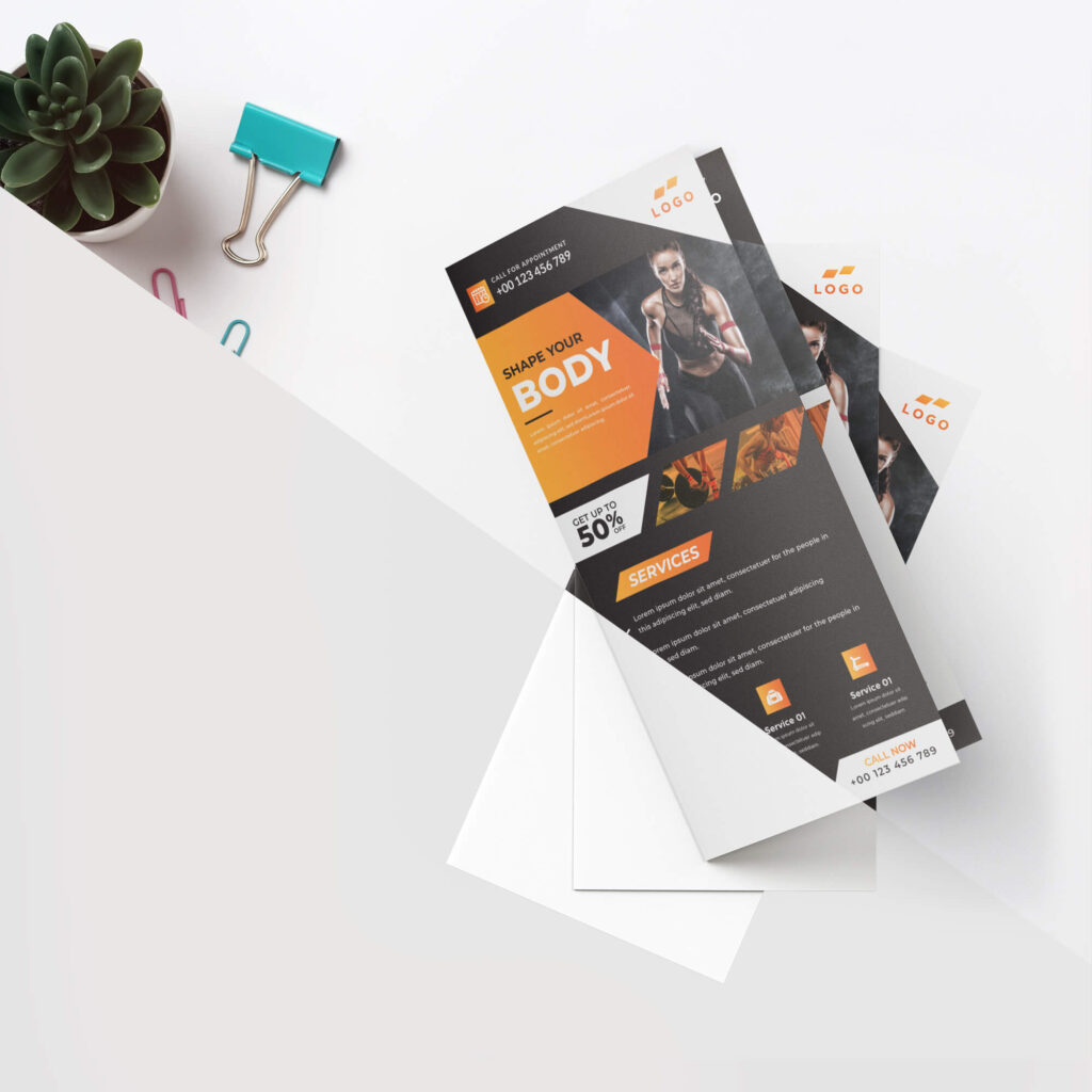 Editable Free Dl Flyer Mockup PSD Template