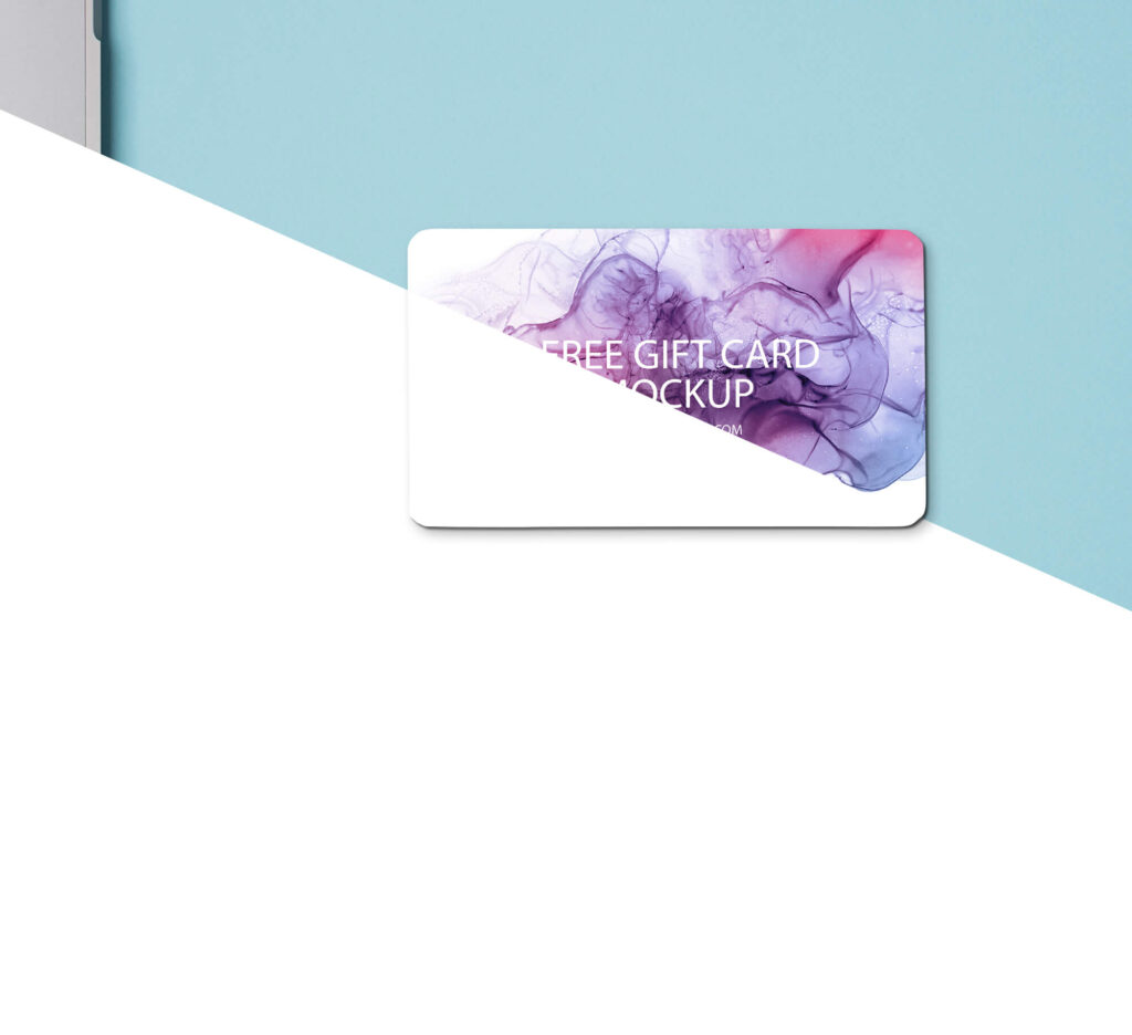 Editable Free Gift Card Mockup PSD Template