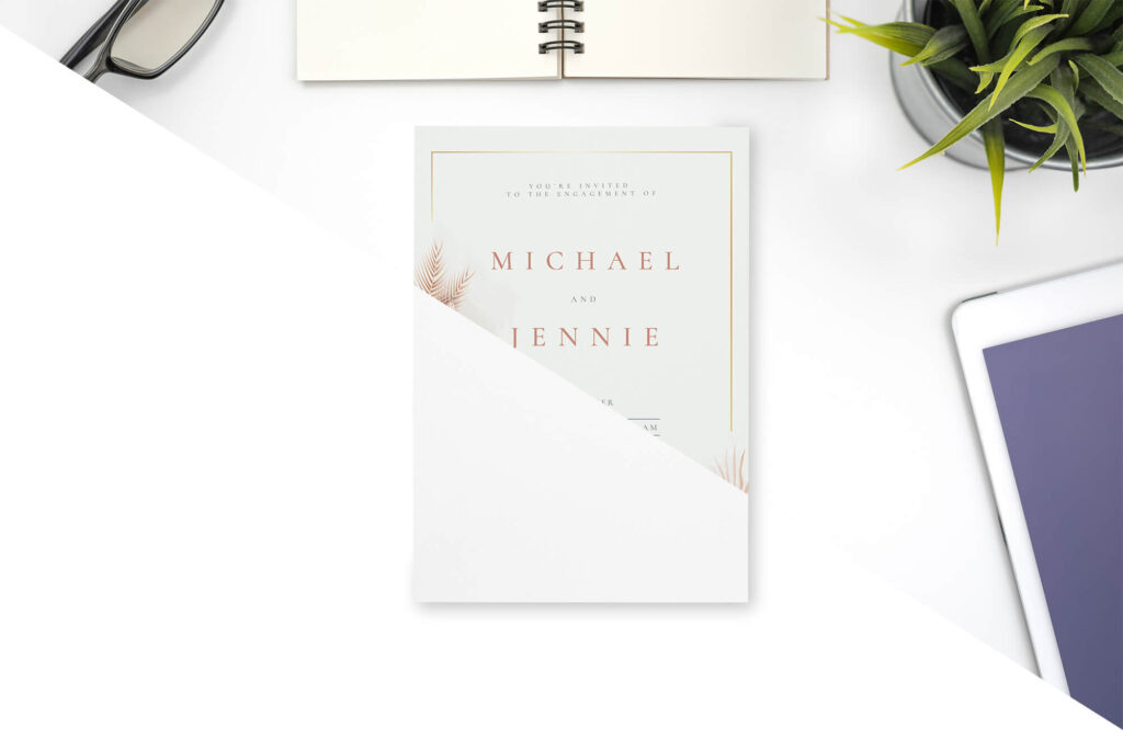 Editable Free Invitation Mockup PSD Template