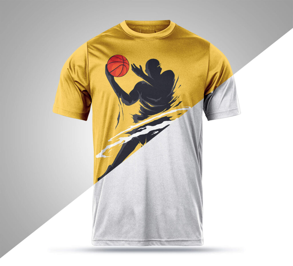 Editable Free Sports T Shirt Mockup PSD template