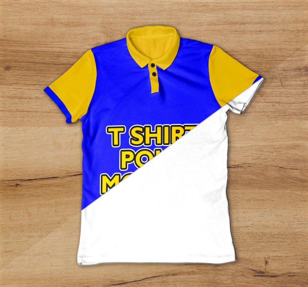 Editable Free T Shirt Polo Mockup PSD Template