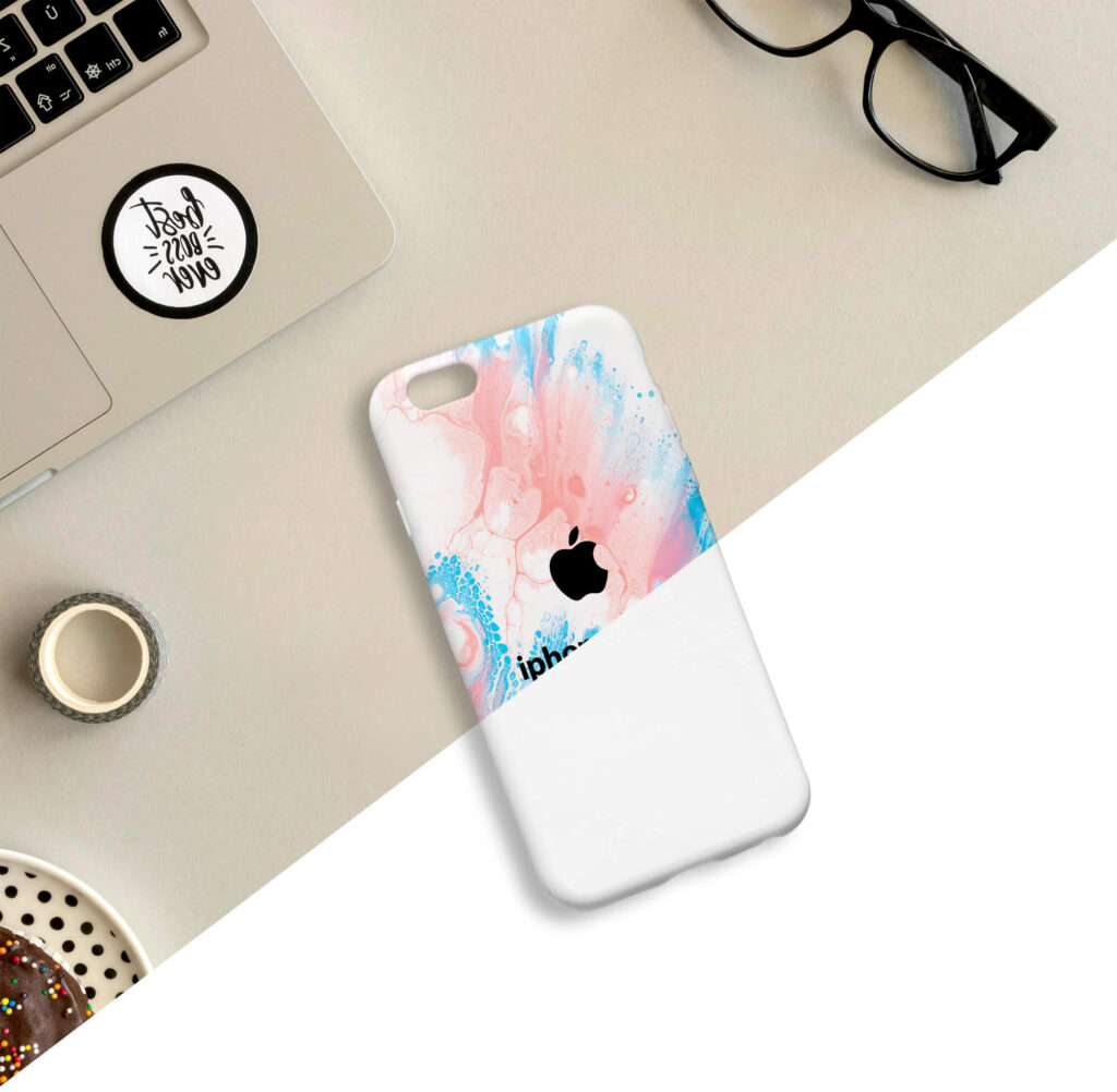 Editable Free iphone Cover Mockup PSD Template