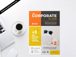 Free A3 Flyer Mockup PSD Template