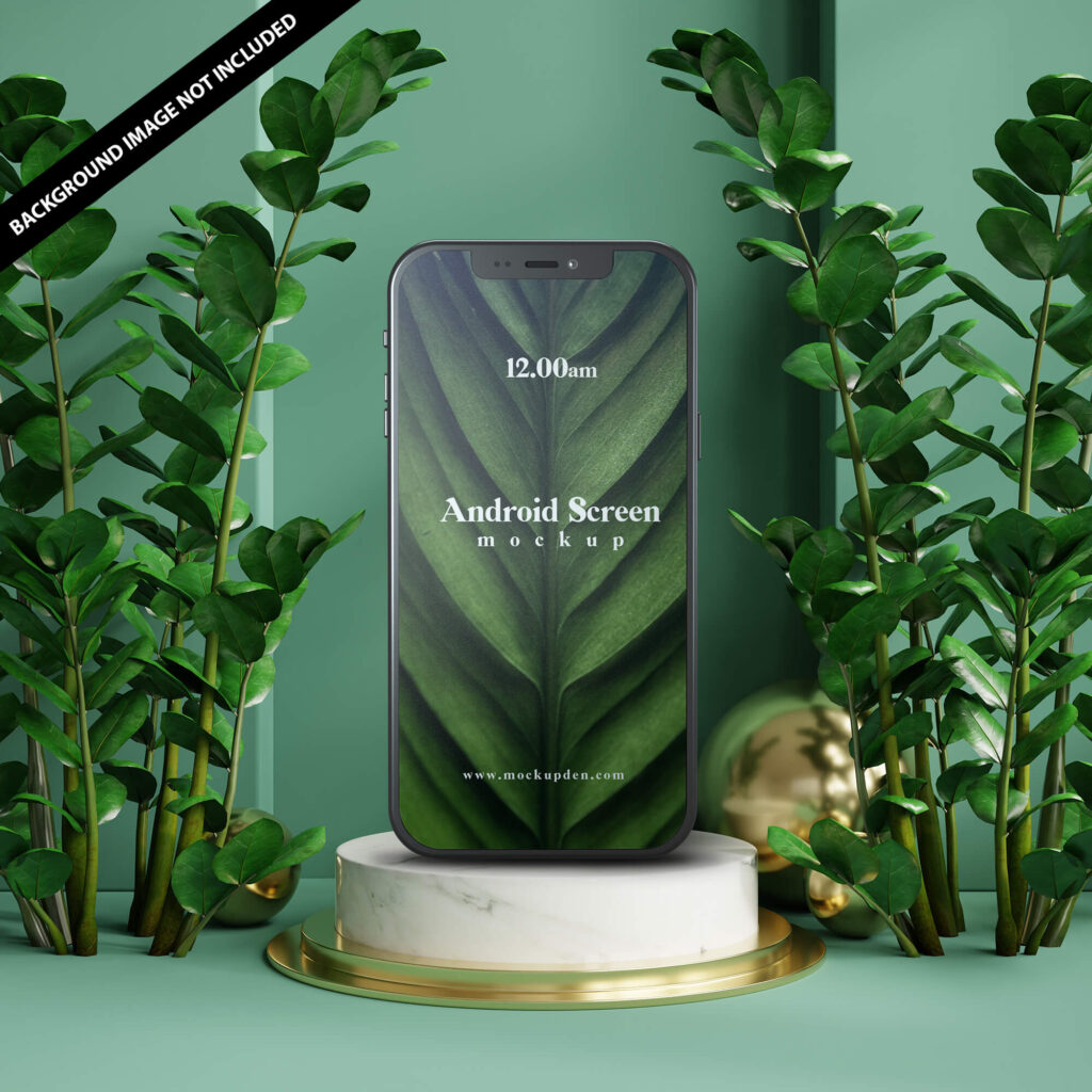 Free Android Screen Mockup PSD Template