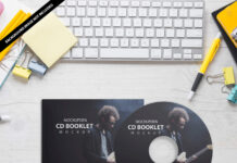 Free CD Booklet Mockup PSD Template