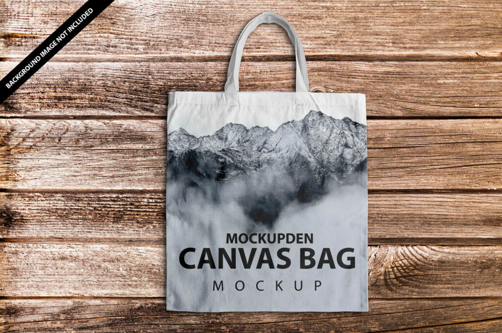 Free Canvas Bag Mockup PSD Template