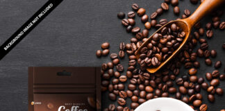 Free Coffee Pouch Mockup PSD Template