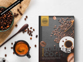 Free Coffee Table Book Mockup PSD Template