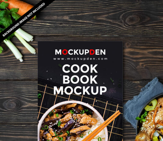 Free Cook Book Mockup PSD Template