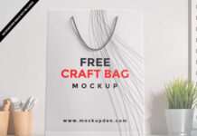 Free Craft Bag Mockup PSD Template