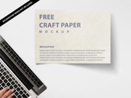 Free Craft Paper Mockup PSD Template