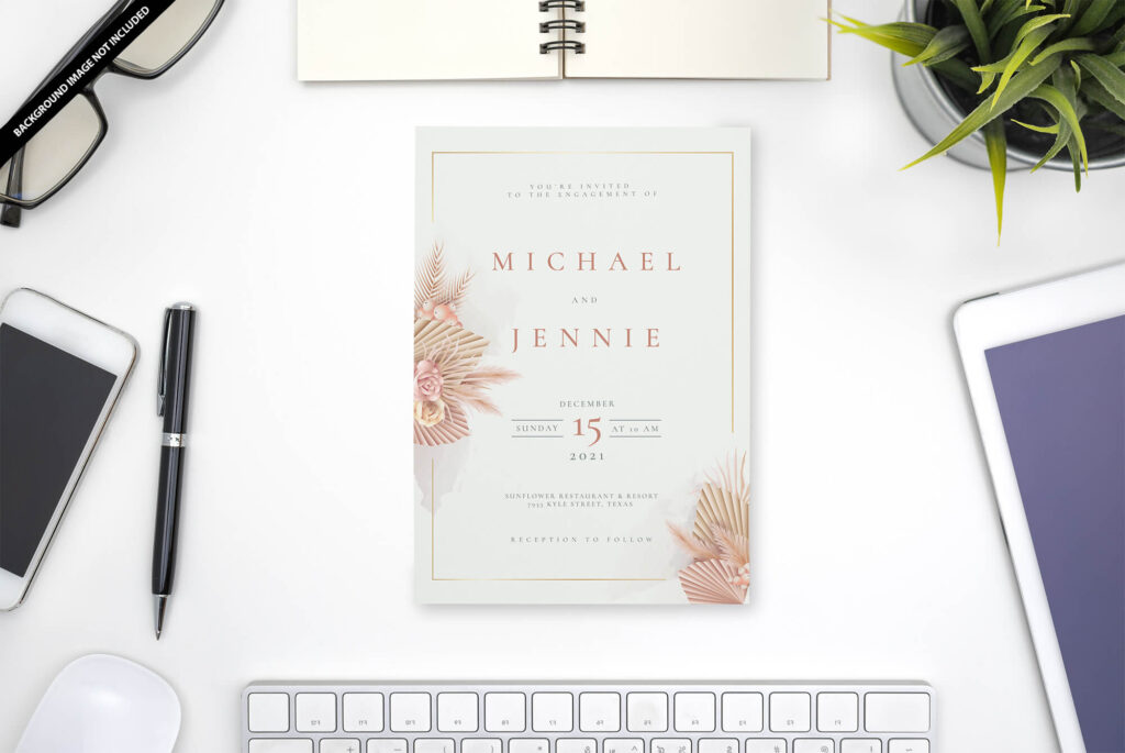 Free Invitation Mockup PSD Template