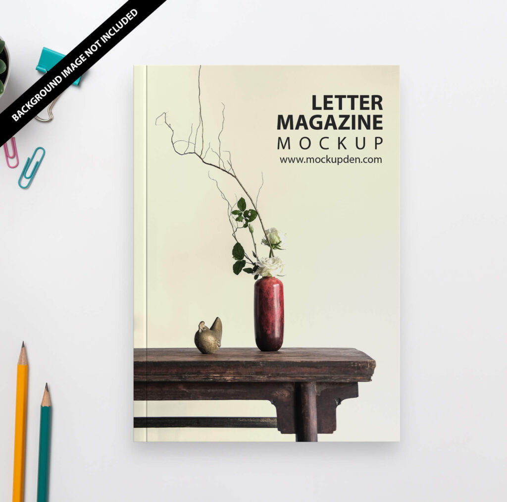 Free Letter Magazine Mockup PSD Template