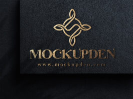 Free Logo On Paper Mockup PSD Template