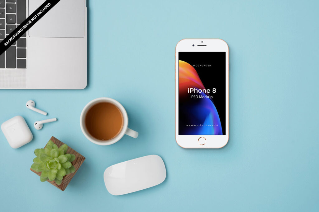 Free iPhone8 Mockup PSD Template