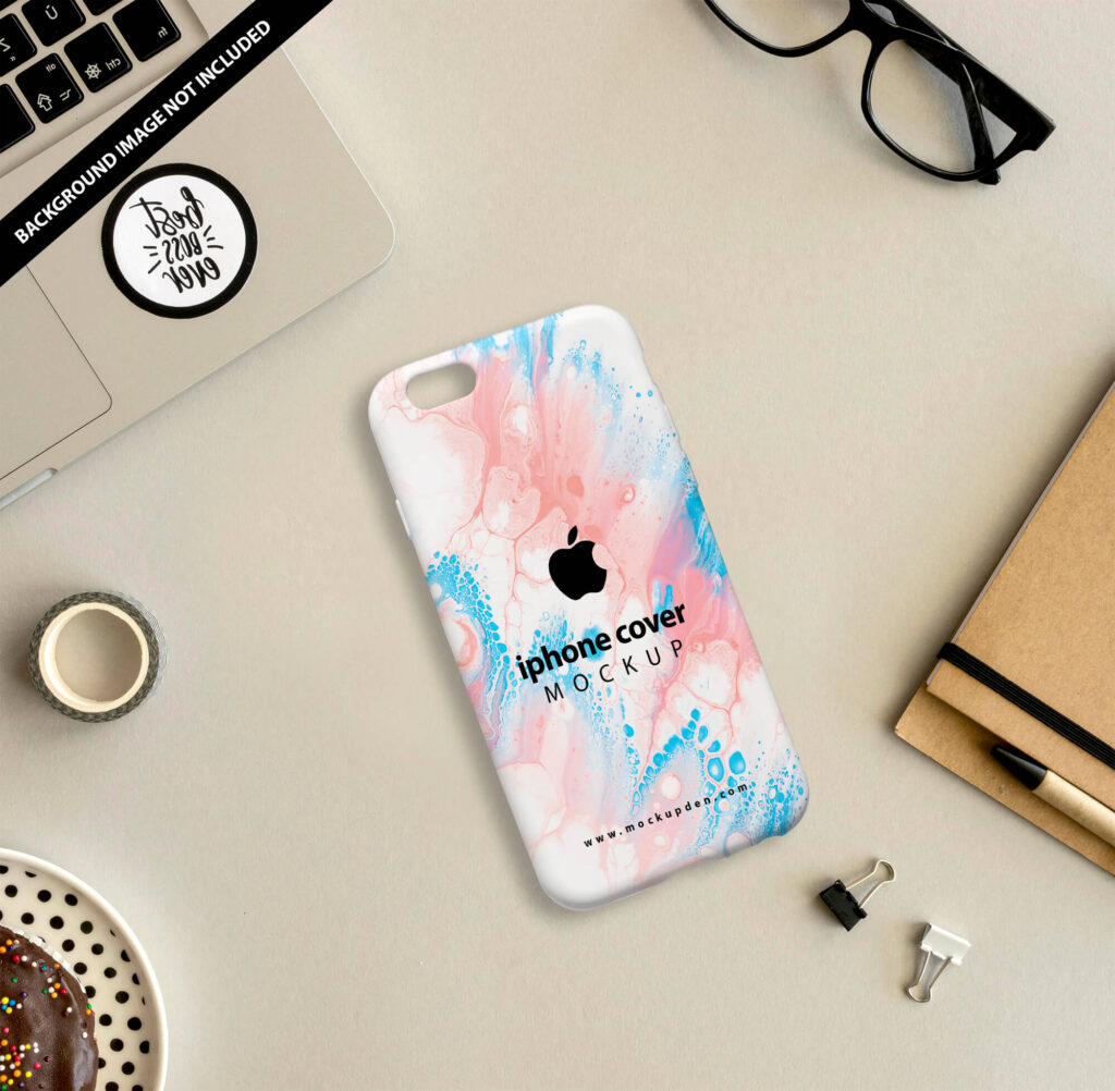 Free iphone Cover Mockup PSD Template