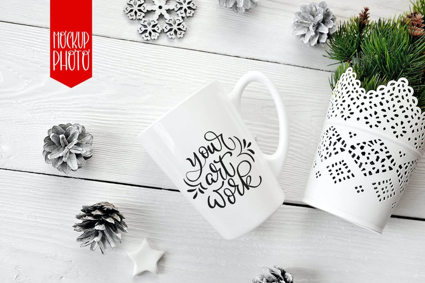 Mug mock ups for lettering, calligraphy and quotes