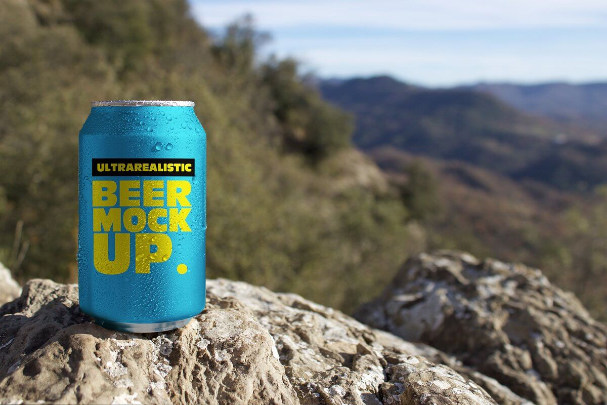 Nature Beer Can Mockup (1)