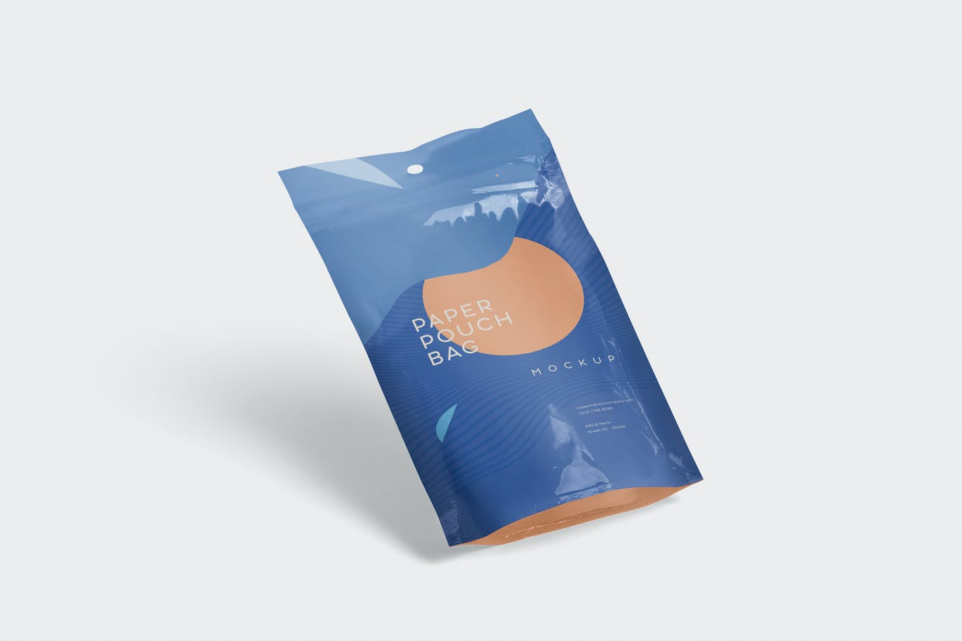 Paper Pouch Bag Mockup in Small Size