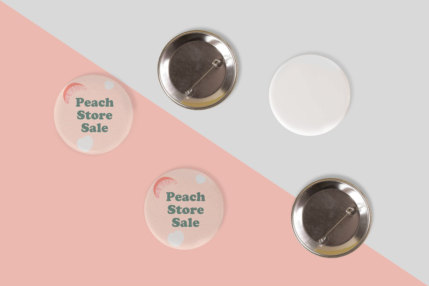 Pin Buttons Mock Up