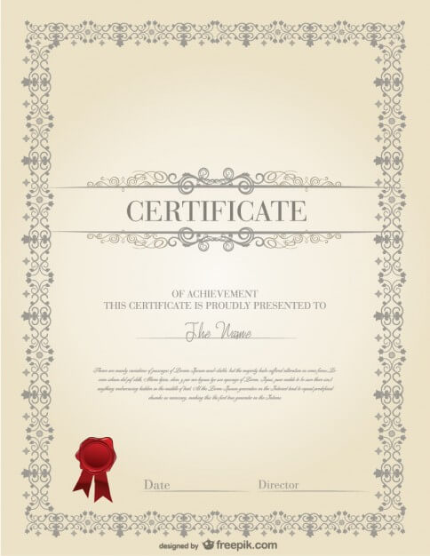 Professional certificate template Free Vector (1)