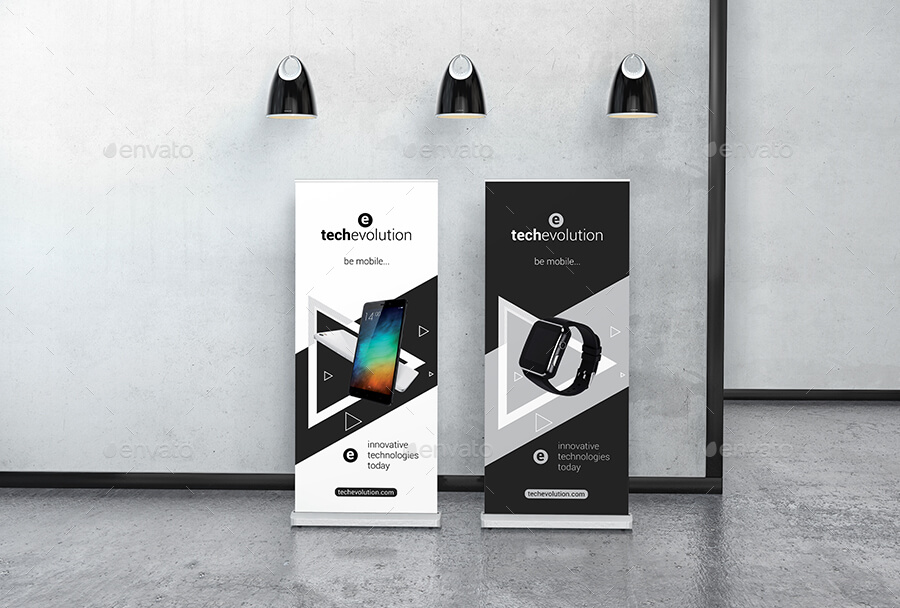 Roll Up Banner Stand Mockup (1)