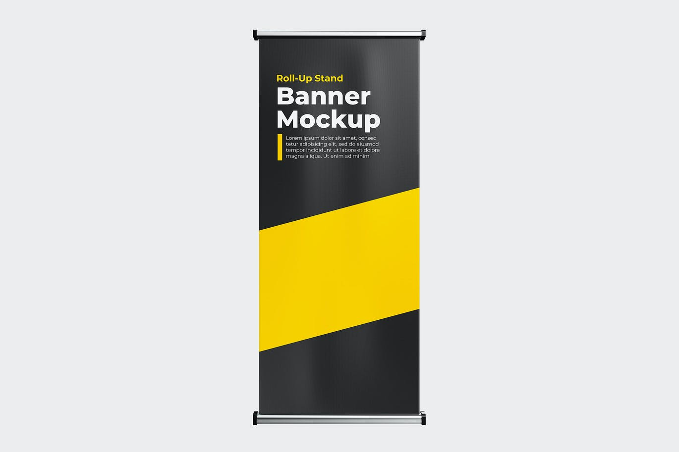 Roll-up stand banner mock-up template