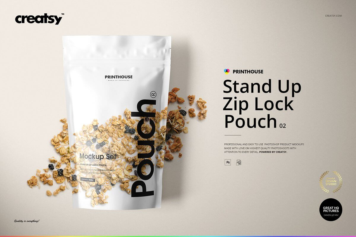 Stand Up Pouch 2 Mockup Set