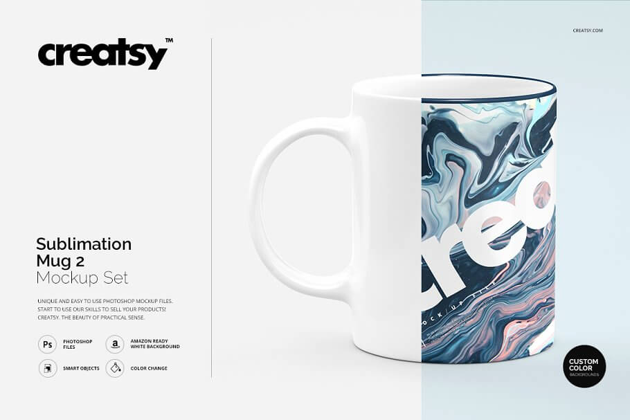 Sublimation Mug 2 Mockup Set