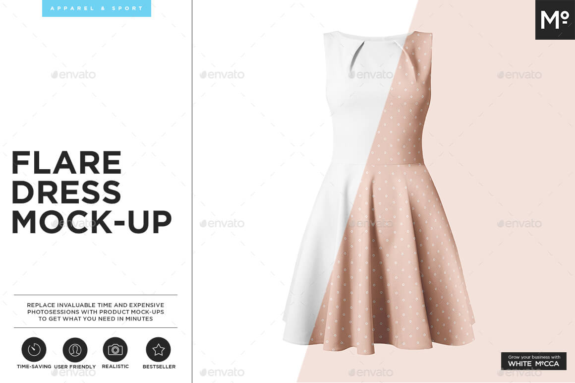 The Flare Dress Mock-up