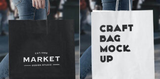 Urban Shopping Bag Mock Up