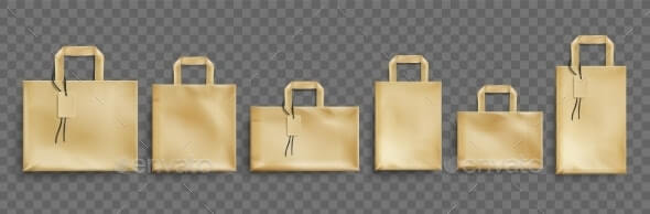 Vector Mockup of Craft Paper Eco Bags