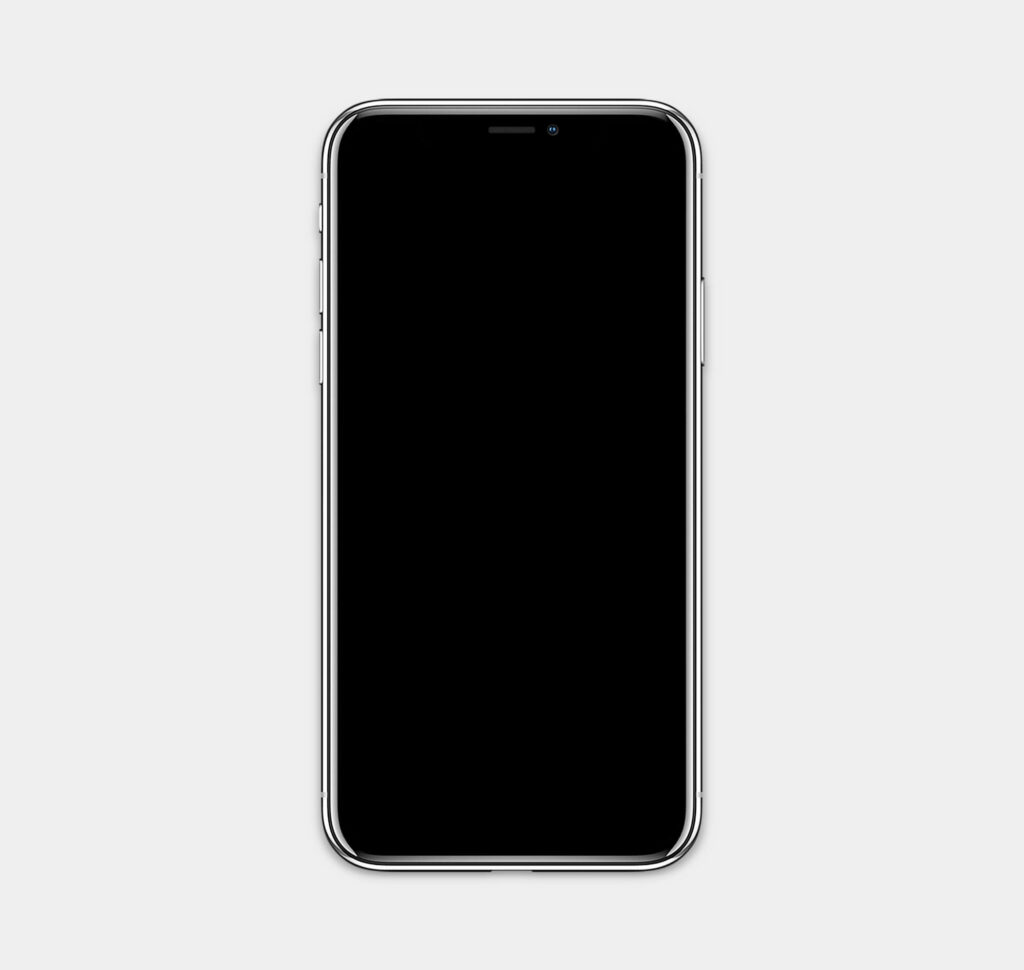 White Free White iPhone x Mockup PSD Template