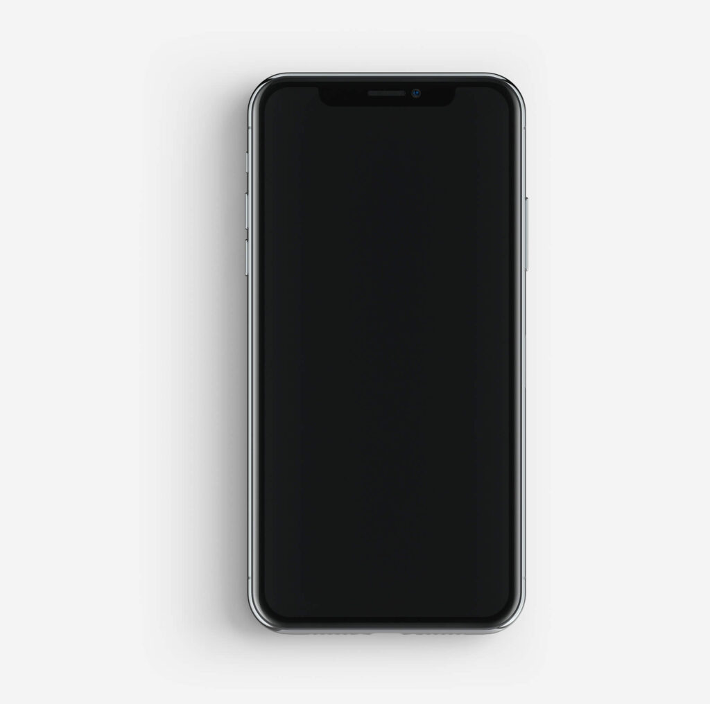 White Free Black iPhone Mockup PSD Template